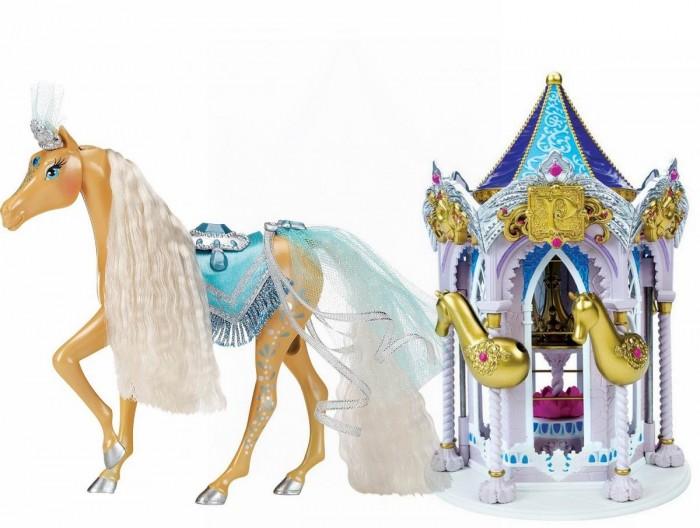 Pony Royal Набор Пони Рояль: карусель и королевская лошадь ТаинственнаяНабор Пони Рояль: карусель и королевская лошадь ТаинственнаяОчень яркая и стильная пони-принцесса Таинственная знает толк в моде. Ее цвет- зеленовато-зеленый. Ее месяц март. Ее камень, украшающий лоб - аквамарин.  У пони шикарная грива, которую можно менять, а также расчесывать.   С волшебной каруселью Pony Royale ваша пони-принцесса готова к выходу в свет. Волшебная карусель - это такой шкаф для хранения модных аксессуаров и драгоценностей вашей пони. Карусель компактно складывается для удобства хранения.   Волшебные Пони-принцессы «Pony Royale» уникальны тем, что они созданы с подчеркнутой женственностью и грациозностью, обычно присущими фешн-куклам. Сделанные из высококачественного пластика, они обладают подвижной головой, а их мягкие гривы и хвосты можно расчесывать. Играя с этими красивыми и изящными лошадками, девочки могут почувствовать себя принцессами, которые заботятся о своих волшебных пони.  В наборе: пони-принцесса Таинственная, Карусель для нарядов, дополнительные грива и хвост, расческа для укладки гривы и хвоста, 1 юбка.   Рост пони 16.5 см.<br>