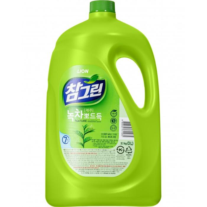 Бытовая химия CJ Lion Средство для мытья посуды Chamgreen С ароматом зеленого чая 2970 мл cj lion средство для мытья посуды chamgreen с древесным углем флакон 480 мл