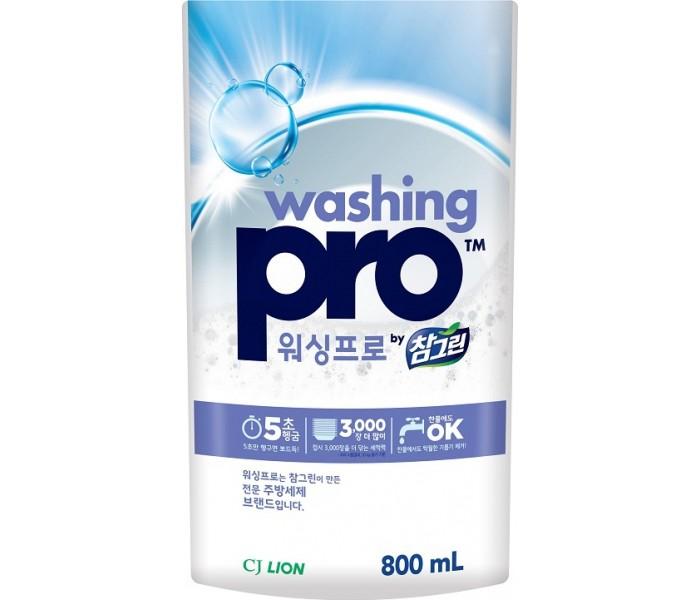 Бытовая химия CJ Lion Средство для мытья посуды Washing Pro 800 мл жидкость для мытья посуды aos лимон 1 л
