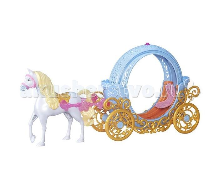 Hasbro Disney Princess Трасформирующаяся карета ЗолушкиDisney Princess Трасформирующаяся карета ЗолушкиИгровой набор Карета Золушки из серии Принцессы Диснея от известного американского бренда Hasbro - привлекательное и сказочное предложение для девочек, которые верят в волшебство. И правильно делают, так как именно эта карета с великолепным белым, златогривым конем сможет удивить. Как в старой доброй сказке, эта карета может превратится в тыкву. Следовательно, с этим игровым набором девочка сможет воплотить в реальность сюжет известной сказки про Золушку, что будет очень интересно и весело.   Все детали и элементы игрового набора продуманы до мелочей. Куколке, которая будет выступать в роли Золушки, будет очень удобно прокатиться на такой карете. Набор сделан из высококачественного и прочного пластика. Добрый и волшебный набор Карета Золушки от Hasbro станет одним из самых запоминающихся и ярких игровых наборов девочки.  Кукла в комплект не входит, на фото представлена для ознакомления.<br>