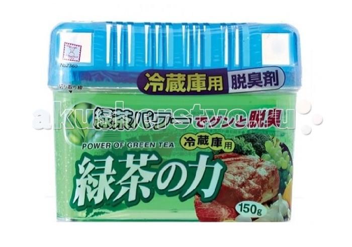 Бытовая химия Kokubo Дезодорант-поглотитель неприятных запахов экстракт зелёного чая для холодильника (общая камера) 150 г поглотитель запахов frigo 3000 для холодильника