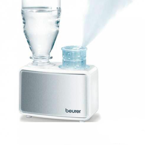Beurer Воздухоувлажнитель LB12Воздухоувлажнитель LB12Beurer Воздухоувлажнитель LB12 - это компактный ультразвуковой увлажнитель, который можно брать в поездки. Он имеет низкий уровень шума, поэтому, его очень удобно использовать в спальне. Резервуаром здесь выступает любая пластиковая бутылка объемом до 0,5 литра - это намного проще и удобнее, чем применение съемного резервуара. Выпуск пара можно регулировать, пар окрашивается эффектной подсветкой. Мощность работы прибора можно плавно регулировать. Использовать данный увлажнитель можно в квартире, в офисе или для поездок - компактные размеры не усложнят перевозку.  Особенности: Ультразвуковой мини-увлажнитель с низким уровнем шума. Используется в квартирах и офисах. Компактный - идеален для поездок. Подходит для помещений площадью до 20 м&#178;. Возможность использования любой пластиковой бутылки (макс. 0,5 л) вместо съемного резервуара для воды. Настраиваемый выпуск пара с эффектной подсветкой. Плавная регулировка мощности. При отсутствии воды в бутылке прибор самостоятельно отключится. Съемные детали можно мыть в посудомоечной машине.  Технические характеристики: Размер: 12x7,5x9 см. Вес без адаптера: 300 г. Питание от сети: 100-240 В. Площадь помещения: 20 кв.м. Эффективность распыления: до 80 мл/ч. Производительность увлажнения: до 220 мл/ч.  В комплекте: Адаптер для обычных пластиковых бутылок - 2 шт. Щеточка для очистки генератора ультразвука - 1 шт. Сумка для хранения во время поездок - 1 шт.  Гарантия: 2 года.  Производитель:Beurer GmbH , Германия<br>