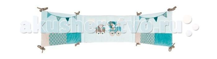 Бортик в кроватку Nattou Gaston &amp; CyrilGaston &amp; CyrilБортик Nattou (Наттоу) Gaston & Cyril  Основные характеристики:  - универсальный мягкий бортик в изголовье кровати;  - украшен оригинальными аппликациями;  - нежные натуральные ткани;  - подходит для кроваток 120х60 см, 125х65 см и 140х70 см.<br>