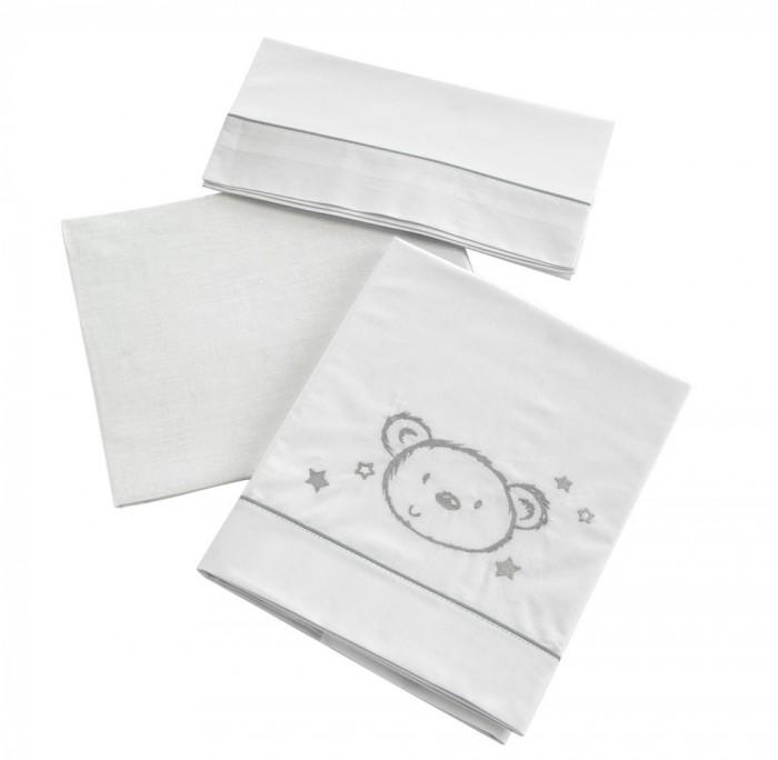 Постельное белье Micuna Sweet Bear (3 предмета)Sweet Bear (3 предмета)Коллекция текстиля для детской комнаты от испанской компании Micuna создана из натурального хлопка самой тонкой выделки. Нежная, гипоаллергенная ткань благоприятна для кожи малышей. Она легко стирается и быстро сохнет. Наполнитель мягких бортиков – холлофайбер – состоит из пустотелых полиэстеровых волокон, скрученных в форме пружин. Обеспечивает лучшую, чем синтепон, теплоизоляцию и меньше слёживается. Текстиль Micuna – гарантия настоящего качества.   В комплект входят:  - наволочка 58х30 см;  - простынь на резинке 120х60 см;  - простынь-покрывало 170х110 см.   Состав ткани: 50% хлопок, 50% полиэстер.<br>