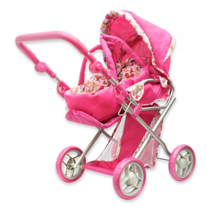 Коляска для куклы Ami&amp;Co (AmiCo) 1641716417Коляски кукольные предназначены для организации досуга детей от трех лет в помещении и на улице.  Имитируют функции и дизайн настоящих колясок. Изготовлены из экологически чистых и безвредных материалов.  Особенности:   Размер: 66 х 38 х 60 см<br>
