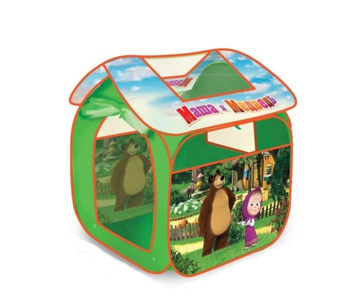 Палатки-домики Играем вместе Дисней игровая палатка Маша и Медведь 83х80х105см