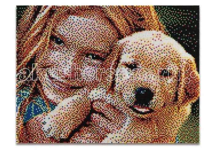 Quercetti Пиксельная мозаика серии Фото Создай свое ФотоПиксельная мозаика серии Фото Создай свое ФотоПиксельная мозаика Pixel Photo Создай свое фото 25200 эл. от 9 лет Quercetti  Пиксельная мозаика Создай свое фото поможет вам создать свой портрет. Специальные детальки-пуговки представлены в 6 цветах, но если вы будете смотреть на готовую мозаику с расстояния, изображение чудесным образом преобразится и станет цельным, повторяя эффект фотографии. Именно поэтому мозаика и называется пиксельной.  В набор входят:       25200 элементов 6 цветов, диаметр 4 мм. 4 дет -  (наборная доска) 16 шт. -  направляющий лист инструкция                       Элементы изготовлены из безопасного качественного пластика. Производитель: Quercetti Италия<br>