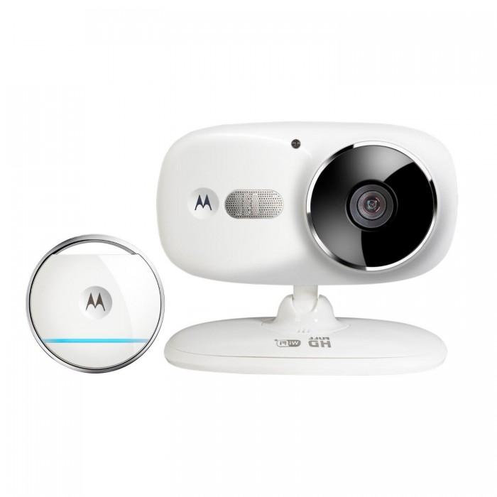 Motorola Видеоняня Focus86TВидеоняня Focus86TMotorola Видеоняня Focus86T с датчиком положения в пространстве Smart Tag  -просмотр изображения с любого устройства на платформе Andoid и iOS.  Передача сигнала защищена от помех, с помощью обратной связи вы можете успокоить ребенка даже на расстоянии, а встроенные полифонические колыбельные помогут ребенку быстрее заснуть.  Особенности: Просмотр видео с помощью смартфона, планшета или ПК в формате HD; Поддержка Wi-Fi; Режим инфракрасного ночного видения до 5 метров; Возможность создания снимка изображения; Контроль температуры с функцией оповещения; Двусторонняя связь; 5 полифонических колыбельных в памяти; Возможность дистанционного зума изображения; Питание от сетевого адаптера; Смартфоны/планшеты: ОС не ниже iOS7/Android 4.2; Персональные компьютеры: Windows 7, Mac OS 7, браузеры Chrome 24, Explore 9, Firefox 18, Safari 6, Adobe Flash 15, Jawa 7; Wi-Fi с пропускной способностью не менее 2 Мбит/сек<br>