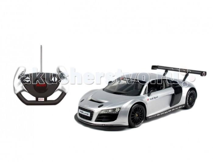 Rastar Машина радиоуправляемая Audi R8 1:14Машина радиоуправляемая Audi R8 1:14Rastar Машина радиоуправляемая Audi R8 1:14  Стильный автомобиль на пульте управления от бренда Rastar понравился бы даже взрослому. Для ребенка - это шикарная игрушка, которая превзойдет ожидания мальчика. Автомобиль выполнен в масштабе 1:14 и точно повторяет детали своего прототипа.  Функциональность модели AUDI R8: движение вперед движение назад повороты стоп  Возраст: от 5 лет Масштаб: 1:14 Дальность действия: 30 м<br>