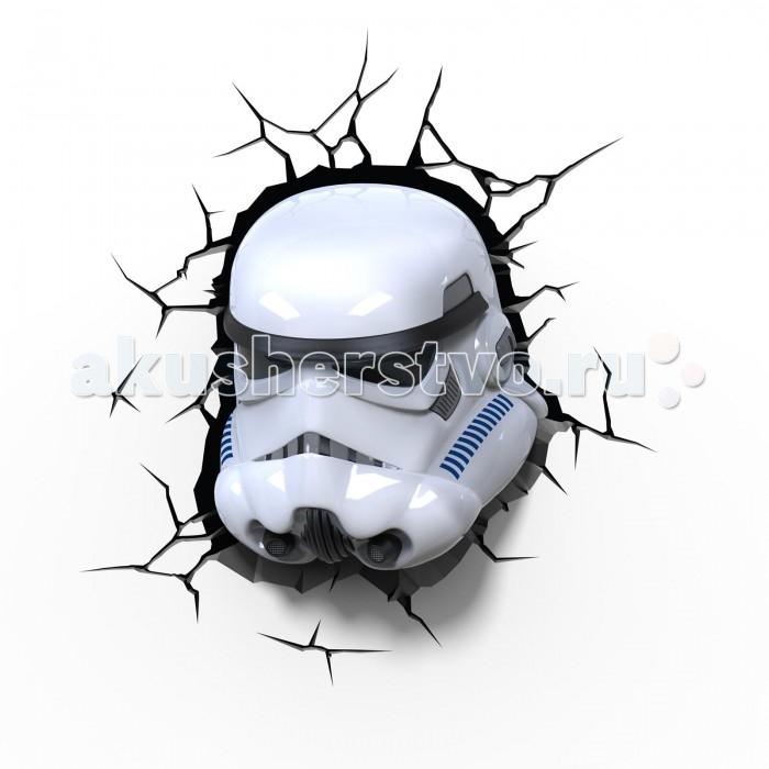 Светильник 3DlightFX Пробивной 3D StarWars (Звёздные Войны) Stormtrooper (Штормтрупер)Пробивной 3D StarWars (Звёздные Войны) Stormtrooper (Штормтрупер)Пробивной 3D светильник StarWars (Звёздные Войны) Stormtrooper (Штормтрупер). Безопасный: без проводов, работает от батареек (3хАА, не входят в комплект); Не нагревается: всегда можно дотронуться до изделия; Реалистичный:3D наклейка-имитация трещины в комплекте; Фантастический: выглядит превосходно в любое время суток; Удобный: простая установка (автоматическое выключение через полчаса непрерывной работы). Товар предназначен для детей старше 3 лет. ВНИМАНИЕ! Содержит мелкие детали, использовать под непосредственным наблюдением взрослых.  Особенности:   Размеры: 26.7 х 29.7 х 14.3 см Вес: 0,85 кг<br>