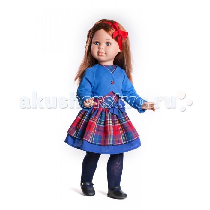 Paola Reina Кукла Сандра 60 смКукла Сандра 60 смКукла Paola Reina Сандра - одна из коллекций виниловых кукол Паола Рейна.    Особенности:   Уникальный и неповторимый дизайн лица и тела. Ручная работа: ресницы, веснушки, щечки, губы, прическа.  Волосы легко расчесываются и блестят.  Ручки сгибаются в локтях, ножки сгибаются в коленях, запястья поворачиваются.  Глазки закрываются.  Наряд игрушки и аксессуары можно при необходимости постирать, и они останутся такими же яркими и привлекательными.  Тело куклы выполнено из приятного на ощупь высококачественного винила, который имеет лёгкий аромат ванили.  Материалы, из которых изготовлена игрушка, прошли все необходимые сертификации и проверки на безопасность для детей. Качество подтверждено нормами безопасности EN71 ЕЭС.    Paola Reina имеет в своем ассортименте кукол всех национальностей, что помогло завоевать не только любовь детей, но и коллекционеров.   Материалы: кукла изготовлена из винила и текстиля; глаза выполнены в виде кристалла из прозрачного твердого пластика; волосы сделаны из высококачественного нейлона.  Высота: 60 см<br>