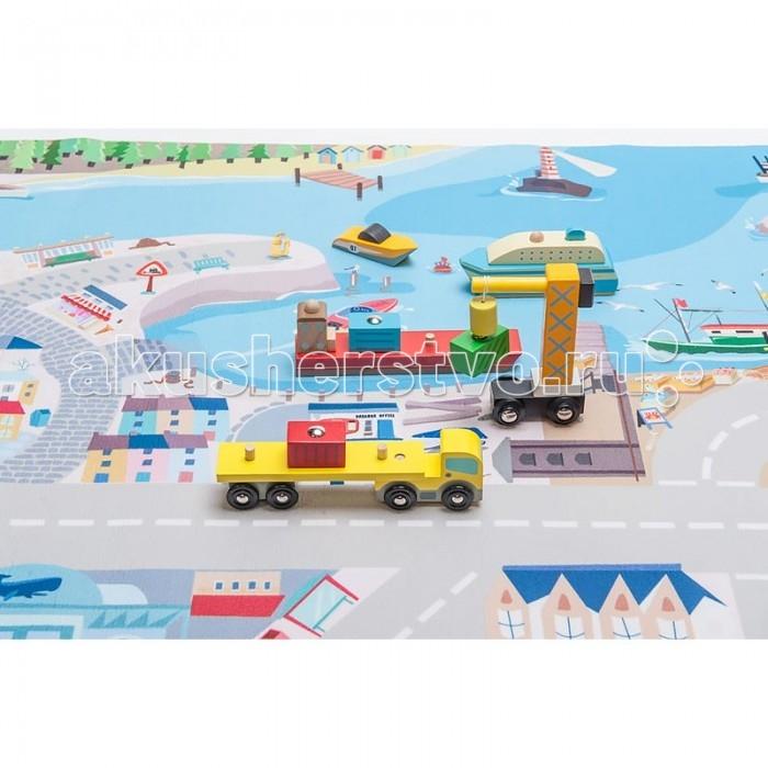 Игровой коврик LeToyVan Набор игровой коврик В порту с портовым транспортом