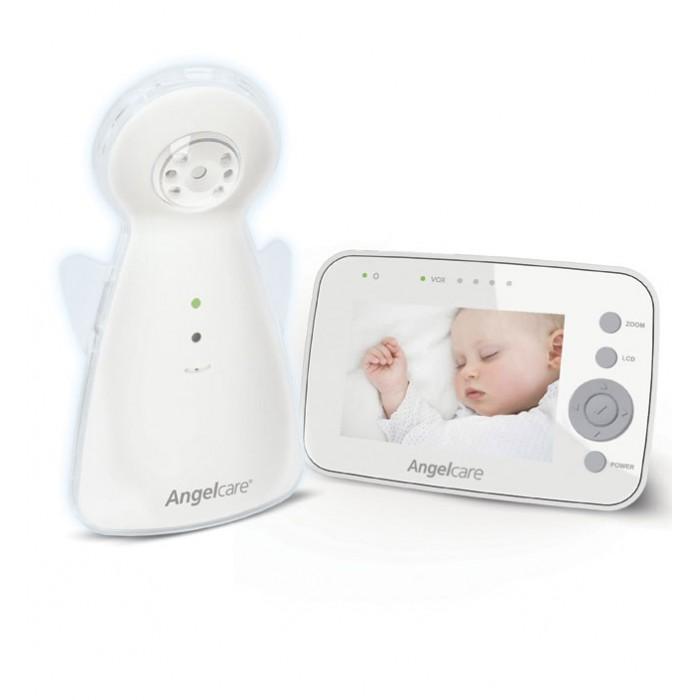 Angelcare Видеоняня AC1320Видеоняня AC1320Angelcare Видеоняня AC1320 с 3,5 LCD дисплеем.  Особенности: Цветная передача видео в высочайшем качестве. Дневной и ночной режимы (инфракрасная камера). Инфракрасная камера на детском блоке может передавать видео даже в темноте! ЖК сенсорный экран. Можно менять настройки на детском блоке с помощью сенсорного экрана с интуитивно понятным меню. Имеется возможность изменения яркости дисплея.  Контроль температуры в детской комнате (высокая и низкая) Цифровая технология передачи данных с перестройкой частоты - минимизирует помехи и обеспечивает приватность общения между детским и родительским блоками. Переносной и заряжаемый родительский блок. Ночник-ангелочек.  Индикатор потери связи.  Индикатор низкого заряда батареи  окажет Вам, что пора менять батарейки и  предупредит Вас, если родительский блок находится слишком далеко от детского блока. Индикатор звука.  Цифровой зум, который позволяет увеличить изображение ребенка на экране. Возможность подключения нескольких камер. Радиус действия до 250 метров<br>