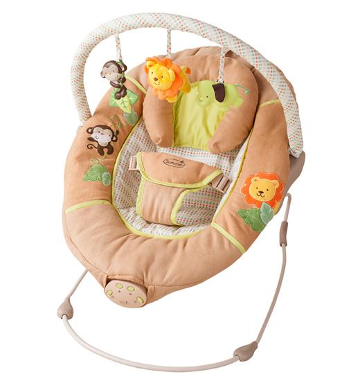 Summer Infant Шезлонг Swingin SafaryШезлонг Swingin SafarySummer Infant Шезлонг Swingin Safary  Шезлонг Summer Infant Swingin Safary - это безопасное и комфортное место для сна и отдыха малыша, в зависимости от его настроения. Колыбельные, звуки природы и легкое покачивание - успокоят малыша, а веселые игрушки развлекут его пока он бодрствует.  Особенности: Есть 15 минутный таймер Большое спальное место люльки оборудовано съемной поддерживающей подушкой для головы и 3-точечным ремнем Люлька легко собирается и разбирается Благодаря нейтральной расцветки люлька хорошо подойдет к любой детской комнате<br>