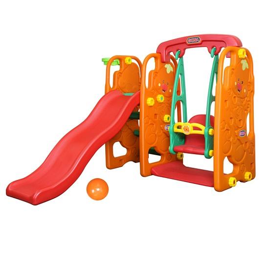 Gona Toys Игровой центр КарапузИгровой центр КарапузИгровой центр Gona Toys Карапуз   Особенности:    Горка может устанавливаться с любой стороны от качелей с музыкальной панелью, имеет форму волны и оборудована округлыми бортами безопасности, удобные ступеньки имеют рифленую поверхность.   Горку можно устанавливать в двух позициях, разных по высоте и наклону.  Музыкальные качели оборудованы надежными креплениями, удобным и безопасным стульчиком со спинкой и фиксирующим бампером.   Баскетбольное кольцо также можно крепить с любой стороны конструкции.   Комплекс легко собирается и разбирается и изготовлен из высококачественного пластика HDPE, который соответствуют всем европейским требованиям безопасности и качества для детских товаров.   Размер центра: 165 х 121 х 118 см Размер коробки: 140 х 36 х 62 см<br>