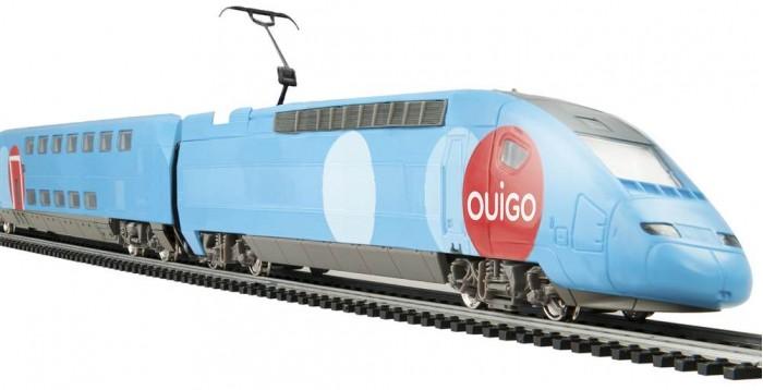 Железные дороги Mehano Двухэтажный TGV Ouigo mehano адаптер с регулятором скорости и направления для железной дороги