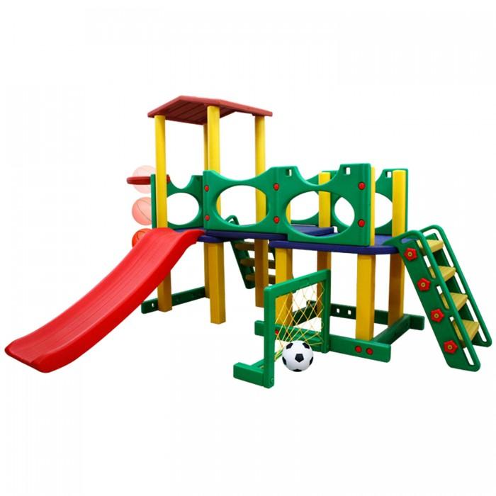 Happy Box Игровой центр JM-731CИгровой центр JM-731CИгровой центр JM-731C - мир развлечений, который подарит ребенку много игр и веселья.  Он изготовлен из высококачественного пластика и не имеет острых углов, что гарантирует безопасность ребенка во время игры. Домик оснащен горкой, а на одной из стенок изделия установлена баскетбольная корзина. Кроме того, в комплект входят футбольные ворота.  Игровой центр обладает достаточной площадью, что позволяет детям в полную силу проявить всю свою активность.  Яркие и сочные цвета домика, а также интересное оформление положительно скажутся на настроении малыша.   Особенности: - устойчивая безопасная и прочная конструкция - легкая и быстрая сборка - 2 надежные и безопасные лесенки позволяют подняться на верхний ярус, чтобы скатиться с горки - ступеньки лестницы имеют шершавую поверхность, чтобы ножки детей не скользили - площадка, расположенная на втором уровне, снабжена ограничительными бортами безопасности - у площадки даже имеется своя крыша, что может послужить для вашего ребенка и вас целым объектом для различных игр - горка подходит для детей в возрасте от 2-х лет и старше - оборудована округлыми бортами безопасности - гладкое соединение с платформой позволит комфортно кататься - есть баскетбольное кольцо, которое можно крепить с любой стороны конструкции - футбольные ворота, могут быть установлены с любой стороны конструкции легко содержать в чистоте, так как может подвергаться влажной обработке, не требует специального ухода  - Материал: Высокопрочный морозостойкий пластик, экологически безопасный и устойчивый к ультрафиолетовому излучению.   Габариты::  Размеры игрового центра (шхдхв)  226х232х157 см Размеры первой коробки (шхдхв)  1.51х0.29х0.715 м Размеры второй коробки (шхдхв)  1.41х0.21х0.785 м Объем  0.545<br>