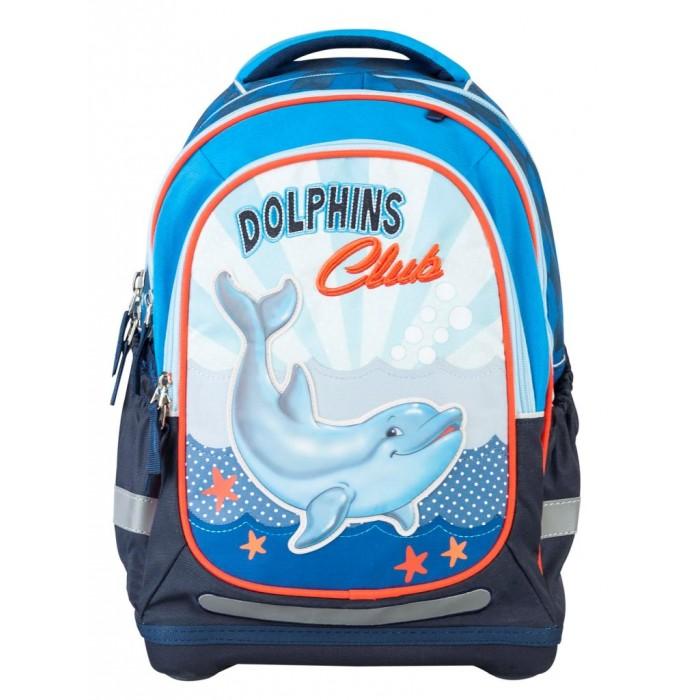 Target Collection Рюкзак супер лёгкий Дельфины №2Рюкзак супер лёгкий Дельфины №2Рюкзак супер лёгкий Дельфины №2 имеет яркий рисунок и изготовлен из современных, прочных материалов.   Техническими особенностями рюкзака (портфелей) «Target Collection» является система «Flexiball» (поясничная поддержка), которая оптимально адаптирована для ребенка.  Ведь самое главное, чтобы ребенок имел правильную осанку во время переноски портфеля. Система «Flexiball» является новшеством в промышленности, она правильно распределяет вес мешка, автоматически подстраивается под ребенка и поэтому обеспечивает идеальное положение для поясничной поддержки. Во время прогулки, система «Flexiball» движется вместе с ребенком, за счет гибкого материала уменьшает нагрузку при ходьбе.   Портфель имеет форму куба, пригодную для учащихся начальных классов. Плечевые лямки можно отрегулировать для каждого ребенка индивидуально, поэтому получается что он «растет» вместе с ребенком. Лямки содержат вентиляционные отверстия и тем самым имеют возможность дышать. Они дополнительно оснащены  ЭКО-пеной, которая делает ношение портфеля более комфортным для ребёнка.   Рюкзак содержит 2 больших отделения, закрывающегося на молнию. На лицевой стороне рюкзака расположен большой накладной карман на молнии, а по бокам рюкзака два кармана на резинке.    Светоотражающий материал присутствует на передней, боковой и задней части рюкзака, что позволяет сделать вашего ребенка более заметным, а так же обезопасить его не только днем, но и ночью. При создании данной модели  используются улучшенные материалы (3D), которые имеют свойство «дышать». Благодаря этим материалам воздух циркулирует, и следовательно, спина  ребёнка не будет потеть.   Дополнительно, имеется грудное крепление-стяжка для фиксации на плечах и поясничное крепление для фиксации на поясе ребенка, они установлены так, чтобы порфель самыми оптимальным образом сидел на на теле ребенка. Правильно используя ремни, вес портфеля распределяется следующим образом: 5
