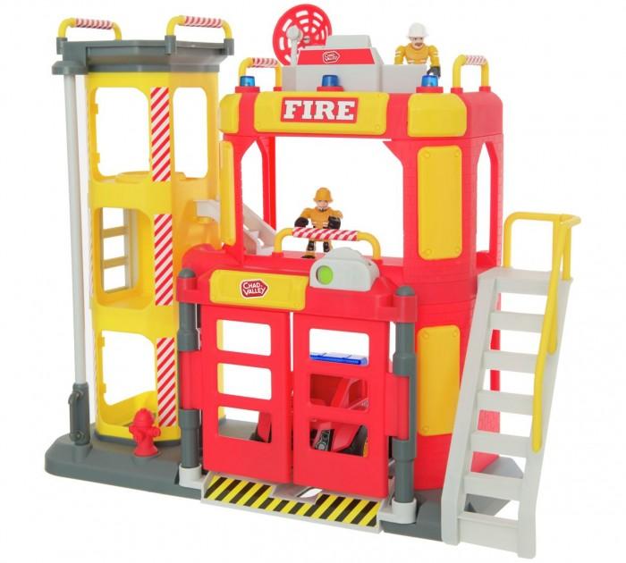 HTI Большая пожарная станция TeamsterzБольшая пожарная станция TeamsterzБольшая пожарная станция. Со световыми и звуковыми эффектами.  В комплект входит: пожарное депо, пожарная машина, 2 пожарных.  Высота станции: 38 см.  Работает от 3-х батареек типа ААА (В комплект не входят).  Изготовлено из полимерного материала с элементами из металла.<br>
