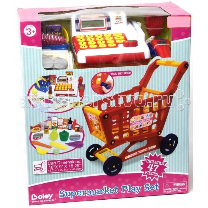 Boley Продуктовая тележка с кассой и набором продуктовПродуктовая тележка с кассой и набором продуктовИгровой набор Продуктовая тележка с кассой и набором продуктов - отличный подарок к любому празднику и для мальчиков, и для девочек!   С ним дети смогут затеять увлекательную сюжетно-ролевую игру - сходить в магазин за продуктами, почувствовать себя в роли покупателя или продавца-кассира, придумывать собственные истории.   В набор входят 47 предметов.  Все предметы выполнены из высококачественных, экологически чистых материалов, совершенно безопасных для ребенка. Игрушка выглядит ярко и очень эффектно.<br>