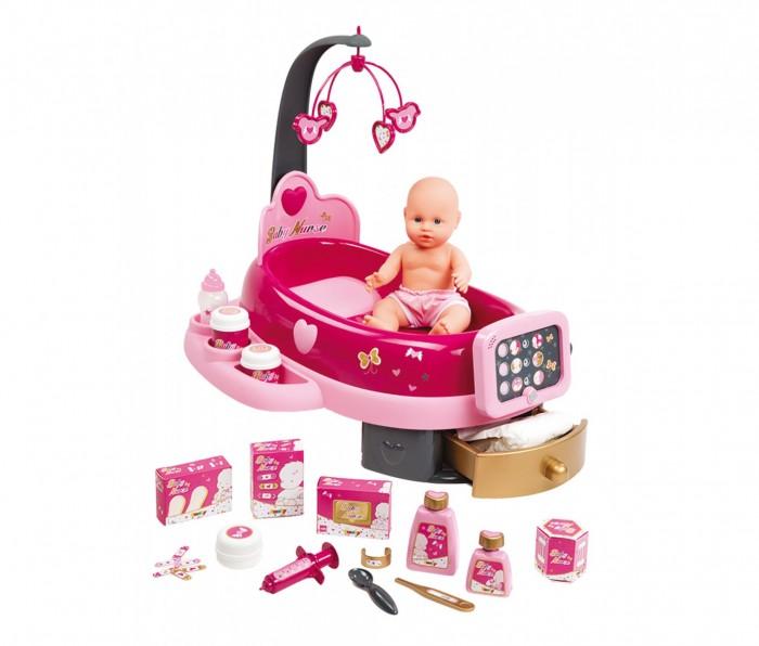 Ролевые игры Smoby Набор по уходу за куклой Baby Nurse свет звук 22 предмета smoby ночник кукла свет звук smoby