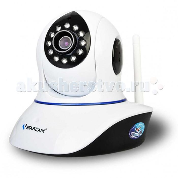 Vstarcam Корпусная камера C7838WIPКорпусная камера C7838WIPКорпусная камера C7838WIP VSTARCAM - это удобная и простая в использовании беспроводная Wi-Fi IP-камера с HD качеством видео (1280 на 720 пикселей), технологией P2P (работа без статического IP-адреса, функцией поворота, двусторонней аудиосвязью (динамик+микрофон) и ИК подсветкой для ночного видения. Камера поддерживает простое подключение по звуку, а также протоколы RTSP и Onvif для подключения к регистраторам и сервисам наблюдения.  Vstarcam C7838WIP  - это универсальное решение для дома и офиса, подойдет для любых задач внутри помещения. Огромные функциональные возможности и удобство пользования сделали эту модель лидером продаж в сегменте камер для помещений.  Камера имеет существенный набор функций:  Русскоязычное приложения для Windows, iOS и Android позволяет управлять всеми функциями камеры практически с любого устройства, подключенного к Интернет, где бы не находились. P2P: работа без статического IP-адреса Функция Sonic Transfer - подключение камеры по звуку - не требуется проводного подключения камеры к роутеру Циклическая запись видео на MicroSD карту, объемом до 64 Гб с возможностью удаленного просмотра. Фактически, архив у Вас всегда под рукой, с компьютера или ноутбука, планшета или смартфона Поворот на 355 градусов в горизонтальной плоскости и на 120 градусов в вертикальной. Управление поворотом осуществляется прямо через приложение или веб-интерфейс. Поддержка протоколов Onvif и RTSP для подключения камеры к сетевым видеорегистраторам и сервисам видеонаблюдения IP-камера с ИК подсветкой позволяет снимать в темноте на расстоянии до 10 метров Встроенный детектор движения Круиз-контроль - движение по заданным точкам Встроенный динамик для передачи звука Очень простая настройка, доступная каждому пользователю, даже не имеющему опыта работы с IP-камерами. Принцип Plug and Play. Нет необходимости использовать статический IP-адрес. Вы экономите на абонентской плате, благодаря уникальной технологии P