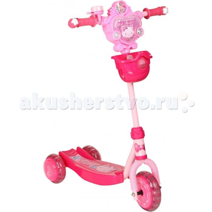 Трехколесные самокаты Leader Kids трехколесный с киской XG5307R8 самокат leader kids с киской цвет розовый
