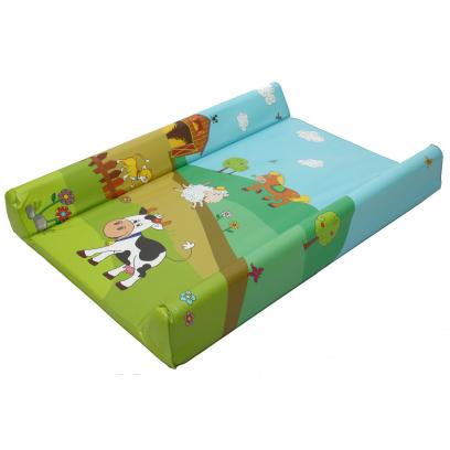 Накладки для пеленания OKT Накладка для пеленания Disney Веселая ферма с меркой 70х50
