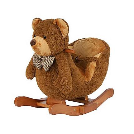Качалка Leader Kids МишкаМишкаКачалка-игрушка Leader Kids Мишка - эта забавная меховая качалка, которая развивает вестибулярный аппарат и способствует развитию мышц спины и ног.  Качалка-игрушка выполнена из красочного текстильного материала на деревянных дуговых подставках с удобным креслом.   Особенности:    звуковые эффекты;  надежное крепление;  деревянные дуги-качалки;  деревянные ручки-держатели;  полозья с ограничителями от переворачивания;  мягкое сиденье со спинкой;  мягкая подставка для ног.  Размеры: 55х63х46 см.<br>