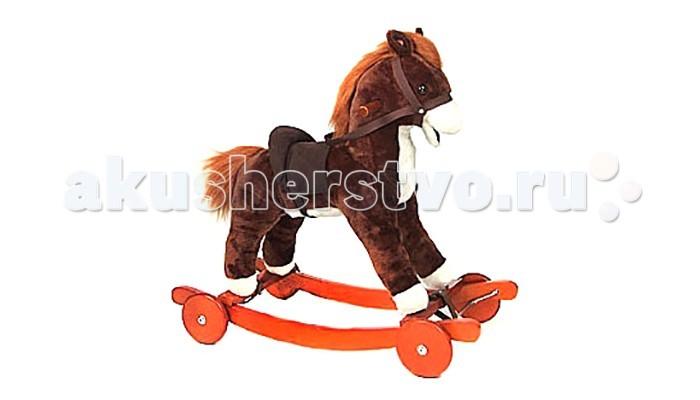 Качалка Jolly Ride ПониПониКачалка-игрушка Leader Kids Пони с деревянными полозьями и деревянными колесами, выполнена в виде маленькой лошадки с пушистой гривой и хвостом, шевелит ртом, с уздечкой и седлом.   Особенности:   есть ручки, за которые ребенок может держаться  полозья с упорами от переворачивания  2 в 1, используют как качалку (полозья) и каталку (колесики)  музыкальная  выполнена из приятного на ощупь материала (искусственный мех)   Размер: 76х63х58 см Посадка: 40 см Максимальная нагрузка: 30 кг<br>