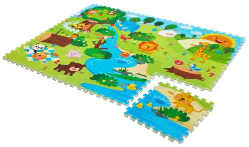 Игровой коврик Mambobaby Животный мир 70009Животный мир 70009Развивающий коврик-пазл для детей от 0 до 4 лет, размер 180х135х2см.   Пазлы коврика 45х45см, 12 штук, являются фрагментами целого изображения, которые необходимо сложить воедино и увидеть законченную картинку. Изображение на коврике познавательное и очень интересное для ребенка.  Коврик односторонний из мягкого, но прочного поролона. Не промокает, теплоизолирующий, суперлегкий. Это идеальная площадка для ползания, игр и развития Вашего малыша. Изготовлен из безопасных материалов, не выделяющих токсинов и не имеющих запаха.<br>