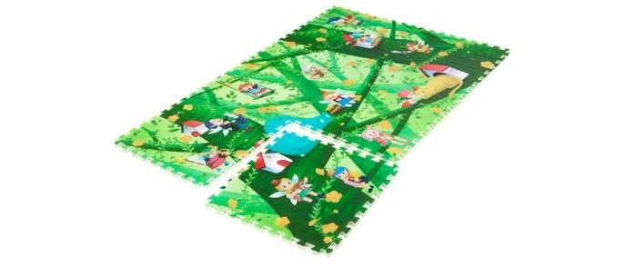 Игровой коврик Mambobaby Лесные эльфыЛесные эльфыРазвивающий коврик-пазл для ползания MamboBaby для детей от 0 до 4 лет, размер 180х120х2см.   Пазлы коврика являются фрагментами целого изображения, которые необходимо сложить воедино и увидеть законченную картинку. Изображение на коврике познавательное и очень интересное для ребенка.   Каждый пазл размерами 60х60 см. Коврик не обязательно собирать целиком. Каждый пазл можно использовать как отдельный коврик, если малыш совсем маленький.   Коврик односторонний из мягкого, но прочного поролона. Не промокает, теплоизолирующий, суперлегкий. Это идеальная площадка для ползания, игр и развития Вашего малыша. Изготовлен из безопасных материалов, не выделяющих токсинов и не имеющих запаха.   Производство Китай.<br>