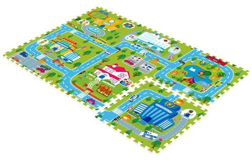 Игровой коврик Mambobaby Счастливый городСчастливый городРазвивающий коврик-пазл для ползания MamboBaby для детей от 0 до 4 лет, размер 180х120х2см.   Пазлы коврика являются фрагментами целого изображения, которые необходимо сложить воедино и увидеть законченную картинку.   Каждый пазл размерами 60х60 см. 6 плит, с кромками. Коврик не обязательно собирать целиком. Каждый пазл можно использовать как отдельный коврик, если малыш совсем маленький. Коврик односторонний из мягкого, но прочного поролона. Не промокает, теплоизолирующий, суперлегкий.   Это идеальная площадка для ползания, игр и развития Вашего малыша. Изготовлен из безопасных материалов, не выделяющих токсинов и не имеющих запаха.   Производство Китай.<br>