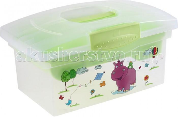 Ящики для игрушек OKT Ящик дорожный Hippo  ванна okt hippo 1 м 8437 фиолетовый