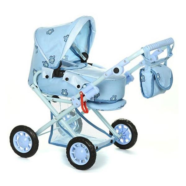 Коляска для куклы Wakart МагдаМагдаКукольная коляска «Магда»— яркая игрушка, которая будет активно использоваться девчушкой в качестве необходимого атрибута для игры в «дочки-матери».   С коляской можно выйти на улицу, покатать ее по асфальтированной детской площадке. В комплекте с игрушкой поставляется удобная сумка.   В нее можно сложить одежду куклы и другие необходимые для игр аксессуары.Внизу коляски есть еще вместительная корзина. И в нее можно поместить все то, что не вошло в сумку, которую легко можно повесить на ручку коляски.   При желании можно изменить положение спинки коляски, установить ручку на нужную высоту. Коляска оснащена подножкой. И она также отличается тем, что свободно поддается регулировке.  Подходит для кукол 30-40 см.  Материалы: металл, ткань, резина.  Ручка регулируется по высоте от 30 до 63 см. Высота ручки (от пола): 60 см. Высота до капюшона: 70 см. Размер коляски (ШхВхД): 40х60х65 см. Размер люльки: 41х21 см.  Вес: 4,5 кг.  Внимание! Расцветки коляски могут отличаться от представленных на фото.<br>