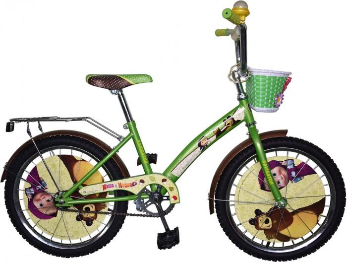 Велосипед двухколесный Navigator Маша и Медведь Kite-тип 20Маша и Медведь Kite-тип 20Велосипед двухколесный Navigator Маша и Медведь Kite-тип 20 подарит радость вашему ребенку.   Особенности:  Однокомпонентный кареточный узел Камеры из натуральной резины Стальные обода Покрышки 20 х 2,125 Задний ножной тормоз Вставки в колесах Передняя пластиковая корзина Страховочные колеса с декоративной вставкой Звонок-пищалка Возраст от 7 до 10 лет<br>