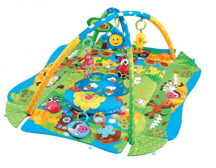 Развивающий коврик FunKids 3 Ways To Play Delux 272903 Ways To Play Delux 27290FunKids Развивающий игровой коврик для новорожденного 3 Ways To Play Delux 27290  На коврике ваш малыш откроет для себя мир, полный новых тактильных ощущений, сочных красок, ярких образов и звуков! Можно лежать на спине, ползать на животе, толкаться ногами, сидеть и развиваться в компании веселых друзей.  Две игровых дуги с мягкими съемными игрушками и безопасным зеркалом Для удобства малыша к коврику можно закрепить подушечку Бортики коврика можно поднять и закрепить для большего чувства безопасности  Размеры коврика 3 Ways To Play с закрепленными бортиками / в разложенном состоянии: Длина - 75 см / 105 см Ширина - 55 см / 91 см Высота игровой дуги - 52 см<br>