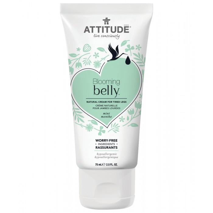 Косметика для мамы Attitude Натуральный крем для усталых ног Blooming Belly - Мята 75 мл