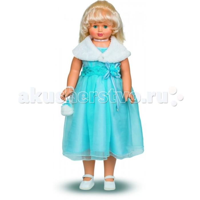 Весна Кукла Снежана 12 озвученная 83 смКукла Снежана 12 озвученная 83 смВесна Кукла Снежана 12 озвученная 83 см - стильная девочка в наряде, явно предназначенном для торжественного вечера.   Особенности: Куколка умеет произносить несколько очень женственных фраз, тематика которых связана с модой и красотой.  Помимо звукового модуля кукла снабжена механизмом движения: если вести Снежану за ручку, она будет шагать, так что в лице этой очаровашки ребенок обретет и спутницу, и собеседницу.  Наряд Снежаны завораживает своим праздничным декором. Пышное платье выполнено из нежного шелка и воздушной органзы, украшено чудесным пояском с цветами. Законченность образу придают пелерина из искусственного меха и крошечная меховая сумочка. Туфельки Снежаны идеально сочетаются со всеми деталями костюма. Кукла изготовлена из прочного надежного пластика и приятного на ощупь винила. У нее яркие вставные глаза, которые могут закрываться, если уложить игрушку спать. Виниловые волосы Снежаны чудесно подходят для всевозможных дизайнерских экспериментов: их можно расчесывать, укладывать и даже завивать.   Цвет одежды, волос и глаз куклы может отличаться от представленного на фото.<br>