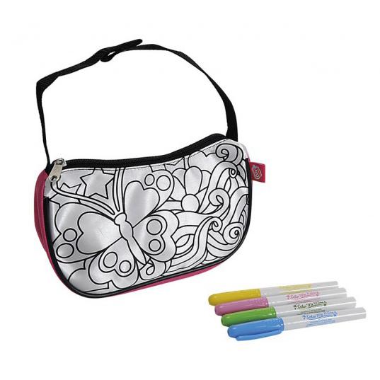 Заготовки под роспись Color me mine Мини-сумочка, 4 перманентных маркера color me mine рюкзак 5 перманентных маркеров