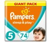 Pampers Подгузники Sleep & Play Junior р.5 (11-18 кг) 74 шт.