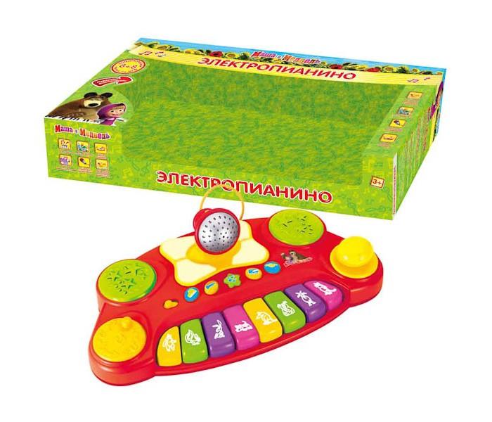 Музыкальные игрушки Умка Электропианино Маша и медведь умка один дома маша и медведь