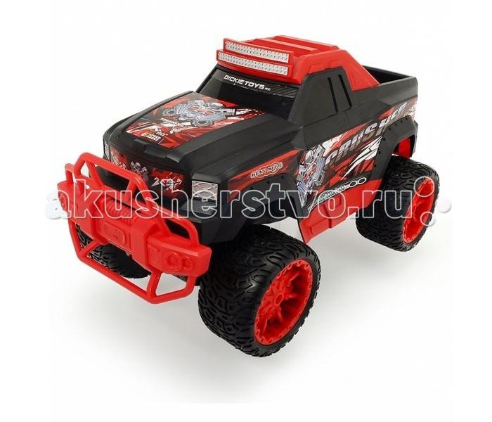 Dickie Машинка радиоуправляемая Crusher RTR 1:12 42 смМашинка радиоуправляемая Crusher RTR 1:12 42 смDickie Машинка радиоуправляемая Crusher RTR 1:12 42 см - это уменьшенная модель внедорожника с мощным бампером, ударопрочным корпусом и огромными колесами.   Особенности: Машинка окрашена в яркие и насыщенные цвета, благодаря чему она выглядит очень эффектно и стильно.  Игрушечный автомобиль управляется дистанционно посредством пульта и может развивать скорость до десяти километров в час.  Большие широкие колеса обеспечат хорошую проходимость машинки на дорогах. Дополнительную маневренность джипа обеспечивают прорезиненные колеса.  Кроме того, джип имеет тонкую настройку деталей, отвечающих за повороты, а потому может поворачивать на ходу и преодолевать узкие дороги. Таким образом, с этой игрушкой можно устраивать гонки даже по самым крутым скоростным трассам.<br>