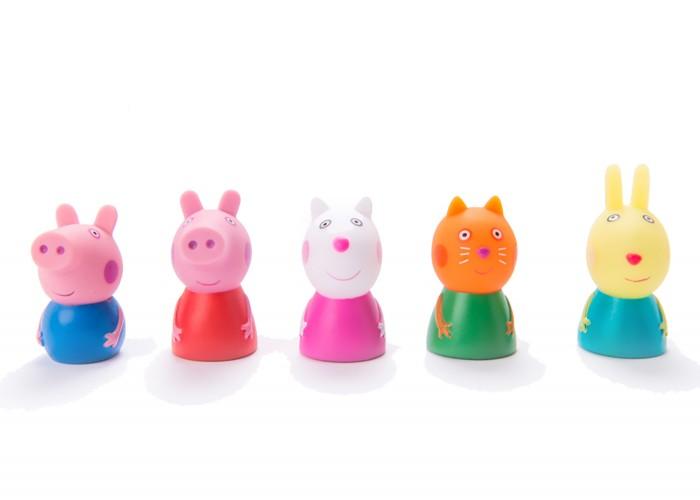 Ролевые игры Свинка Пеппа (Peppa Pig) Пальчиковый театр 5 фигур на блистере аппликация пальчиковый театр свинка пеппа пеппа кэнди и сьюзи peppa pig