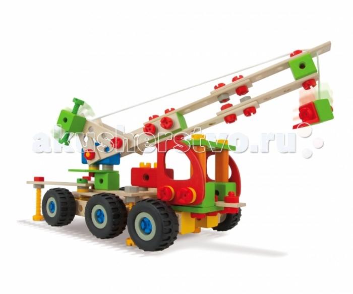 Конструктор Heros Авто кран (190 деталей)Авто кран (190 деталей)Конструктор Heros Авто кран (190 деталей) для сборки различных видов машинок.  Особенности: Детали легко соединяются друг с другом, поэтому сборка конструктора не представляет особого труда.  Ребенок может самостоятельно создать модели, используя семь вариантов сборки. Сборка конструктора положительно влияет на логическое, аналитическое и образное мышление, фантазию и воображение ребенка.  В процессе сборки развиваются конструктивные способности.  Готовая собранная модель может использоваться ребенком в его сюжетно-ролевых играх.<br>