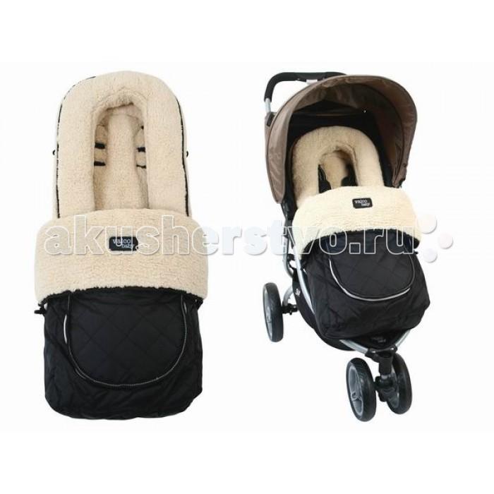 Зимний конверт Valco baby Footmuff FleeceFootmuff FleeceКонверт Deluxe Footmuff это универсальный аксессуар совместимый со всеми колясками Valco Baby а также других брендов. Конверт легко модифицируется для использования в любой сезон. Накидку на молнии можно открыть для вентиляции, или полностью отстегнуть оставив только флисовую подкладку на сиденье коляски.  Валик для поддержки головки предназначен для новорожденных. Валик можно легко полностью отстегнуть, когда он перестанет быть нужным.  Характеристики: подходит для всех колясок Valco Baby расстегивается на молнию есть вентилируемое окошечко на внешней стороне есть мягкие подголовник для новорожденных, который будет фиксировать голову малыша высококачественные ткани водонепроницаемый верх теплый и мягкий внутри можно стирать в стиральной машине размер конверта (дхш): 85x40 см<br>