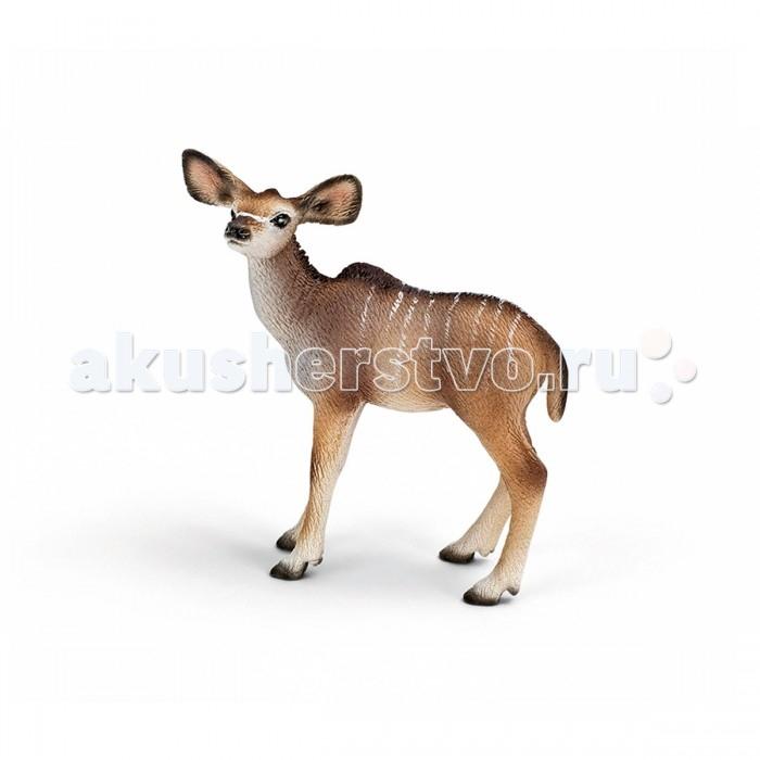 Игровые фигурки Schleich Игровая фигурка Теленок антилопы Куду  теленок черный ангус schleich