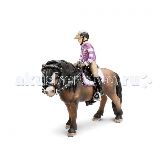 Игровые фигурки Schleich Набор игровых фигурок для верховой езды с наездницей для пони schleich schleich ковбойский набор для верховой езды серия ферма