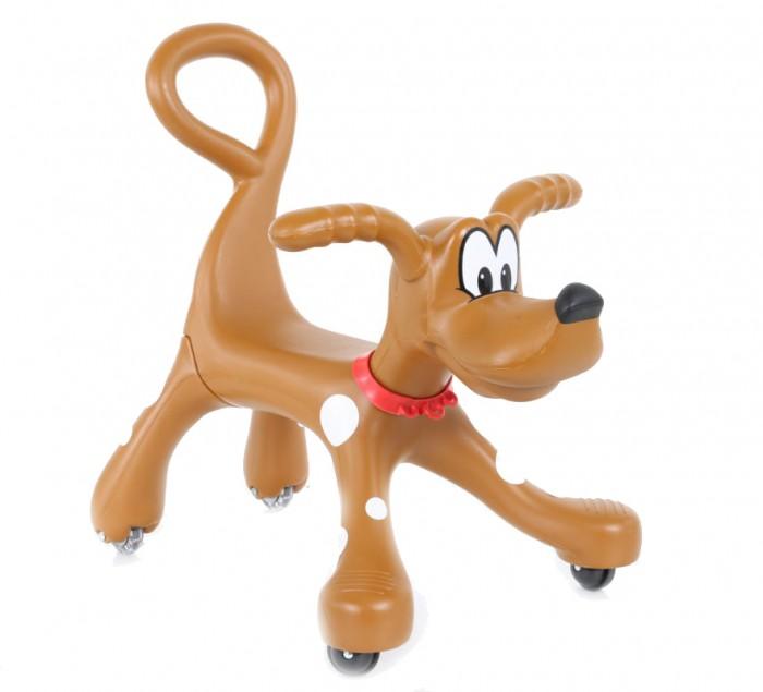 Каталка Vip Toys Собака LZW100Собака LZW100Эта уникальная игрушка способствует развитию вестибулярного аппарата, координации движений, моторки. При этом имеет абсолютно новый дизайн, с которым Ваш малыш будет выделяться.   Порадуйте малютку каталкой, которая сразу поднимет настроение ему и родителям. Это многофункциональная вещь, которая должна быть в доме, где есть маленький ребенок.  Характеристики: материалы - высококачественный пластик, резина предназначена для малышей с 12 месяцев и старше 4 резиновых бесшумных колеса удобная спинка двигается свободно во всех направлениях на передних лапах каталки насечки, благодаря которым ребёнок может ставить ножки, а родитель таким образом может покатать малыша высота сиденья - 26 см  Размеры каталки (дхшхв): 56х36х51 см Вес: 2 кг<br>