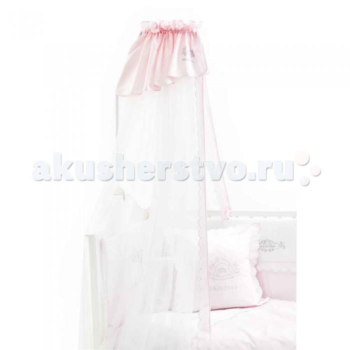 Балдахин для кроватки Fiorellino PrincessPrincessДве новые коллекции Fiorellino Prince и Fiorellino Princess созданы специально для маленьких принцев и принцесс. Коллекция выполнена в невероятно нежных пастельных тонах – розовый для девочек и небесно-голубой для мальчиков, мягкие ткани в горошек выглядят трогательно и романтично. Украшением служат изящные вышивки с винтажным орнаментом.   Особенности: балдахин идеально подойдёт для коллекции текстиля Fiorellino Princess длина балдахина – 5 метров легко стирается и быстро сохнет<br>